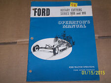 OPERATORS MANUAL FOR FORD 909, 910  ROTARY CUTTER