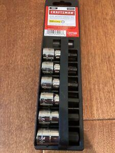 "Craftsman 6 Piece 3/8"" Drive 5/32"" to 3/8"" Hex Bit Socket Set, SAE 934447 NEW"