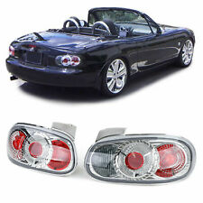 MAZDA MIATA MX5 NB CLEAR CHROME LOOK TAIL LIGHTS 1998 - 2005 MODEL