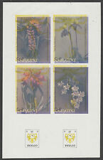 Guyana 5387- 1985 Orchids IMPERF m/sheet INVERTED COLOURS unmounted mint