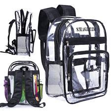 Clear PVC Backpack Transparent Travel Bag Shoulder Bag School Bag Bookback New