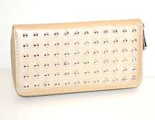 ebd1651776 PORTAFOGLIO BEIGE ORO donna borsello chiodini borchie argento portamonete  G26