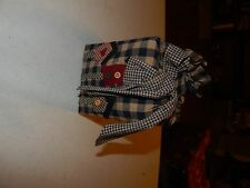 HAND CRAFTED BIRDHOUSE TISSUE BOX VINTAGE KLEENEX COVER FABRIC COUNTRY
