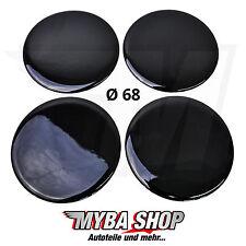 4x Silikon Aufkleber für Nabenkappen ∅= 68mm Embleme Sticker | Schwarz