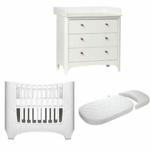 Leander Classic Baby-, Juniorbett weiß + Matratze + Wickelkommode weiß - NEU !