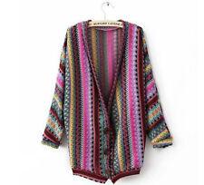 Women's Striped Sweatercoat