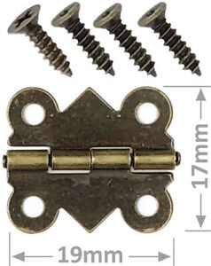 Hinge, Butterfly small brass copper silver decorative with matching screws UK