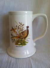 Vintage Ringneck Pheasant Bird Tankard Beer Stein Large Mug Cup Made In USA NICE