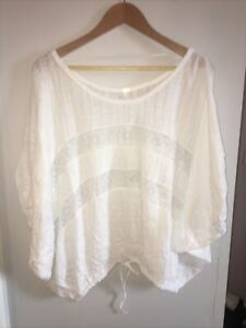 Free People I'm Your Baby Ivory Top. Size Medium