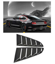 New For 15-17 Ford Mustang OE Style Paint PP Ingot Silver Side Window Louvers