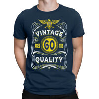 Mens 60th Birthday T-Shirt AGED 60 YRS Vintage Quality Funny Gift Top Present