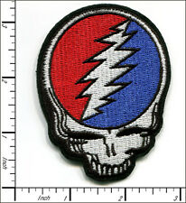 """10 Pcs Embroidered Iron on patch Grateful Dead Face Skull 2.38""""x3.25"""" AP021iA"""