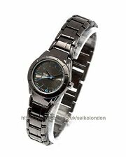 Omax Ladies Black Dial Watch, Black Finish, Seiko (Japan) Movt. RRP £49.99