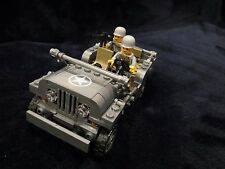 Custom WWII Jeep Willys Building Block Compatible Figure Weapon Army Vietnam