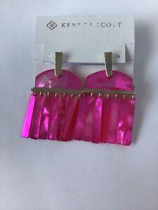 New Kendra Scott Layne Pink Magenta MOP Earrings