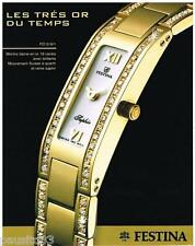 PUBLICITE ADVERTISING 095  2004  La montre FESTINA SAPHIR a quartz