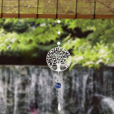 Tree of Life Wind chimes Crystal Outdoor Yard Garden Rotate Hanging Decor