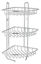 Stainless Steel 3 Tier Corner Bathroom Shower Caddy Organiser Rack Shelf Unit