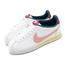 Nike Wmns Classic Cortez Leather White Pink Retro Running Shoes 807471-114