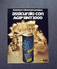 K421- Advertising Pubblicità -1975- AGIP SINT 2000