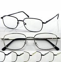 L51 Superb Classic Thin Specs Big Frame Reading Glasses Spring Hinges Value Pack