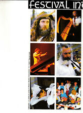 Festival Interceltique de Lorient France August 1989 Celtic Vintage Brochure