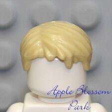 NEW Lego City Minifig Boy Short TAN HAIR -Blonde Head Gear -Police/Ninja/Ninjago