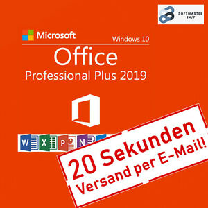 Microsoft Office 2019 Professional Plus Key Online Aktivierung Deutsch E-Mail