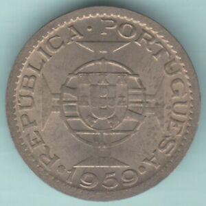 PORTUGESE INDIA 1959 ONE ESCUDOS RARE COIN