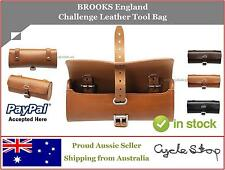 LEATHER TOOL BAG - BROOKS England - OLD SCHOOL RETRO VINTAGE - BROWN/BLACK/HONEY