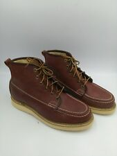 604198d7b363 SEARS LEATHER WORK BOOT MOC TOE SIZE 9D USA MADE LACE UP