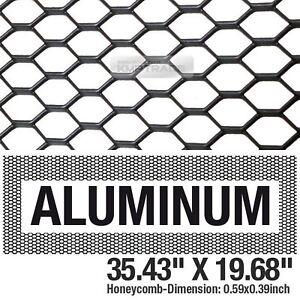 """Black Honeycomb Hex Mesh Aluminum Grille Fog Custom Kit 35""""x19"""" For All Vehicle"""
