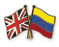United Kingdom & Venezuela Friendship Flags Enamel Lapel Pin Badge