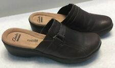 Clarks Women's Hayla Marina Brown Clog Shoes Size 6M (26111328)