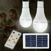 5 Modes COB LED Solar Light USB Rechargeable Energy Bulb Lamp Outdoor Camping