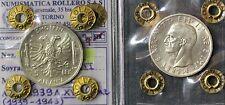*161* 5 Lek 1939 Albania Re Vittorio Emanuele III qFDC