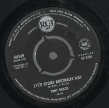 "TONY BRADY   THE BEE GEES   Rare 1963 Aust Only 7"" OOP Surf Single ""Let's Stomp"""