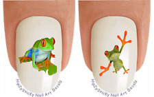 Nail Art #2181 Tier Frosch #2 Orange Frosch Beine Wasserrutsche Nagel Transfers