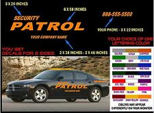 SECURITY PATROL Lettering Decal Kit - FREE SHPN