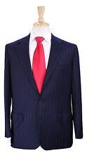 * BRIONI * Very Recent Navy Blue Pinstripe Classic Wool 2-Btn Handmade Suit 40R