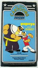 Vintage Popeye All Star Cartoons VHS Video tape Vol 3