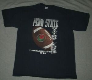 PENN STATE NITTANY LIONS-1995 ROSE BOWL-VINTAGE VELVA SHEEN BLUE T-SHIRT-XL