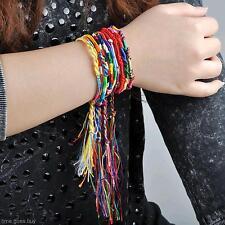 10Pcs Colorful Friendship Cords Rope Weave Braid Handmade Bracelet Wrist Band