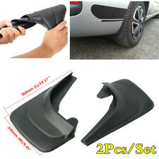 2x Black ABS Soft Plastic Car Fender Accessories Mud Flap Splash Guard Mudguars