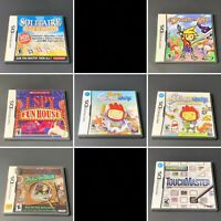 Lot of 7 Nintendo DS Puzzle Games All Complete CIB Tested Working Free Shipping