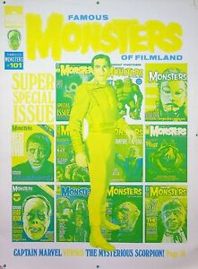 Famous Monsters of Filmland #101 Publishing Master TOM TYLER Cover Proof #WA
