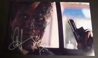 """AARON ECKHART Authentic Hand-Signed """"THE DARK KNIGHT - TWO-FACE"""" 11x17 Photo"""