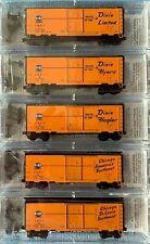 N Scale Micro-Trains C&EI 40' Standard Box Cars, 5 Car Set, NIB