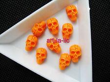 20 Pcs Nail Art 3D Skull Design Resin Tips DIY Gel Nail Art Tips Decoration