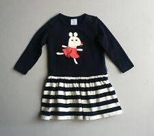 POLARN O PYRET Girls 9 12 Mo Blue Striped Mouse Dress 80 cm